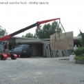 G70 compact crane with optional manual searcher hook