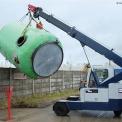 G70 battery powered crane lifting drum