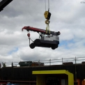G70 being lifted by a mobile crane