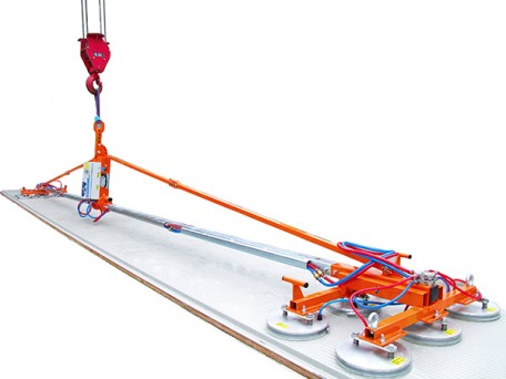 The Flexi-Clad is a versatile vacuum lifter with the ability to lift horizontal, vertical and roofing panels up to 400kg