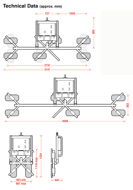 CladKing Cladding Lifter Dimensions