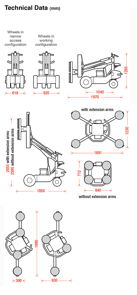 Geko + MRT4 Dimensions