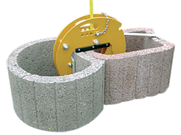 Rubber-Lined Stone Clamp