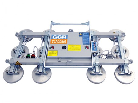 The Multi-Clad vacuum lifter series comes with the flexibility of 5 configurations to suit varying panel length and shape