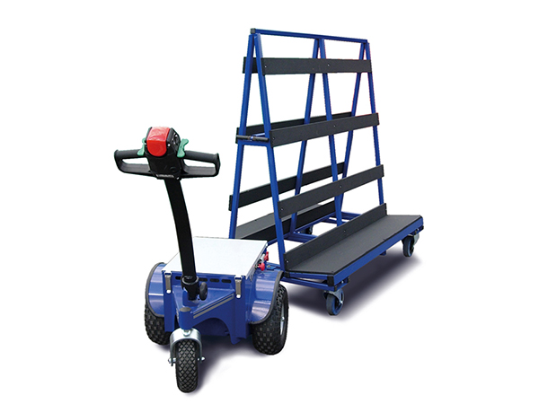 Glass Mule highly mobile motorised stillage tow