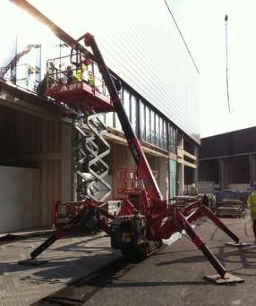Westfield mini crane hire, Westfield Stratford City crane