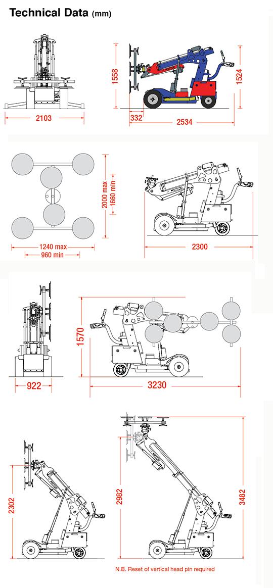 Oscar 600 Offroad dimensions