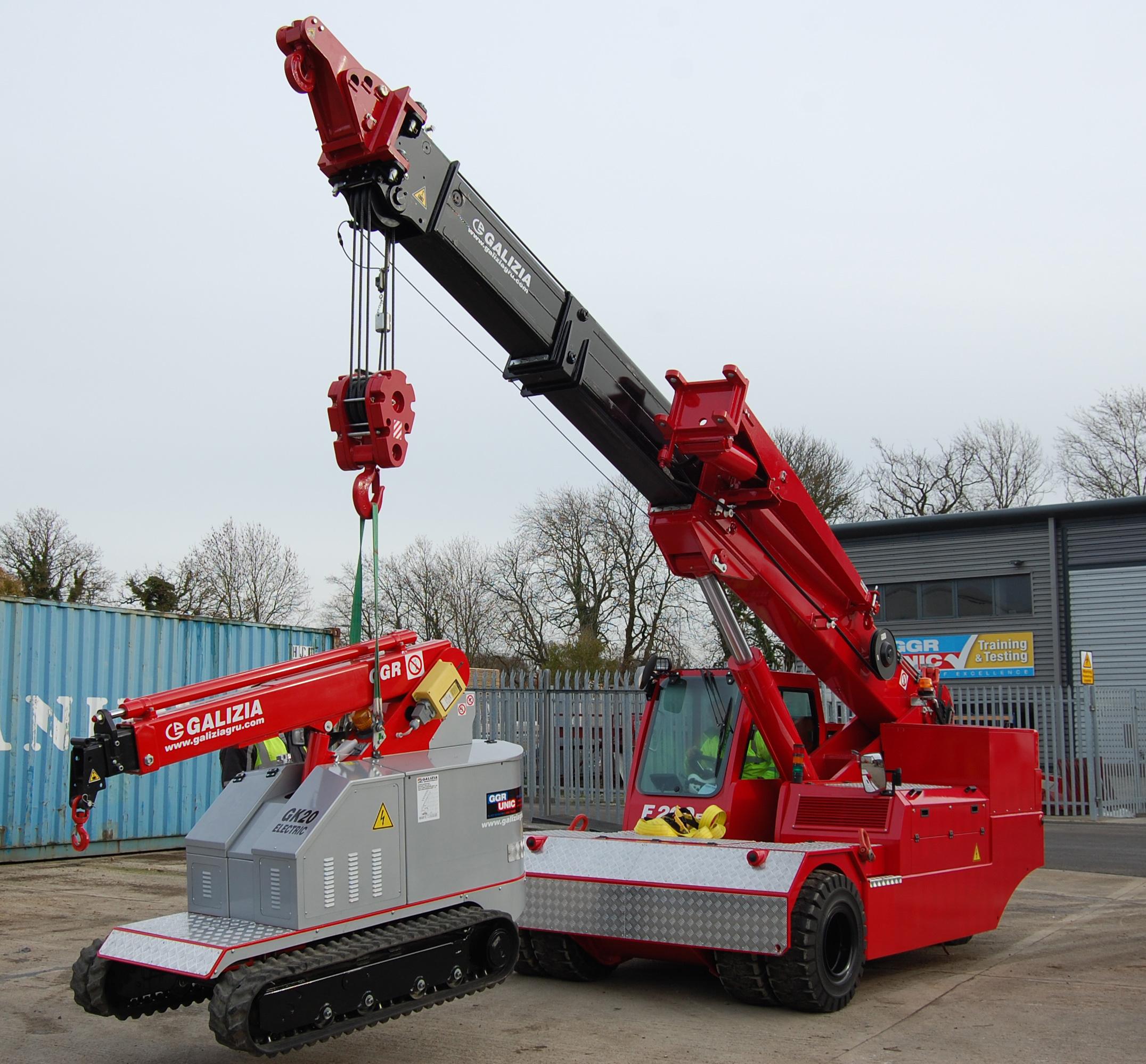 F200E Plus crane lifting a GK20 crane