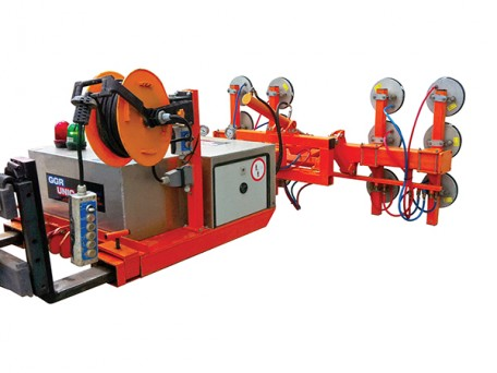 The Fork Lift Hydra-Clad cladding lifter is ideal for commercial horizontal wall and ceiling panel installation.
