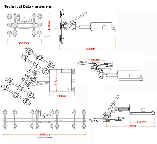 Fork Lift Hydra-Clad Dimensions