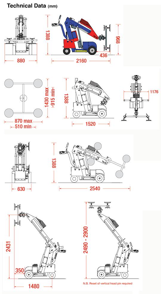 Oscar 280 dimensions