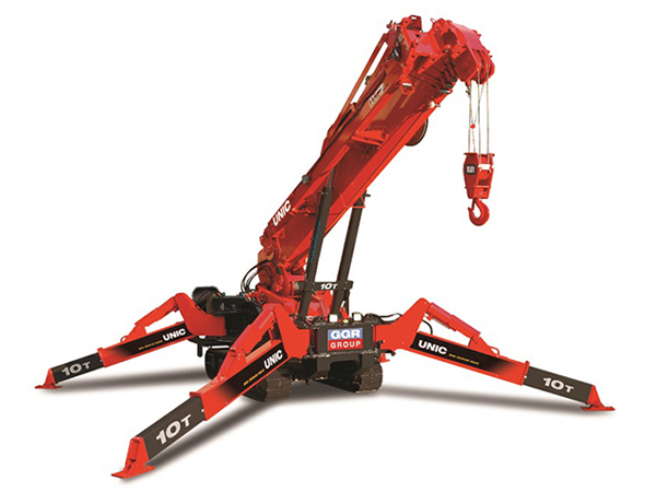 The URW-1006 mini spider crane