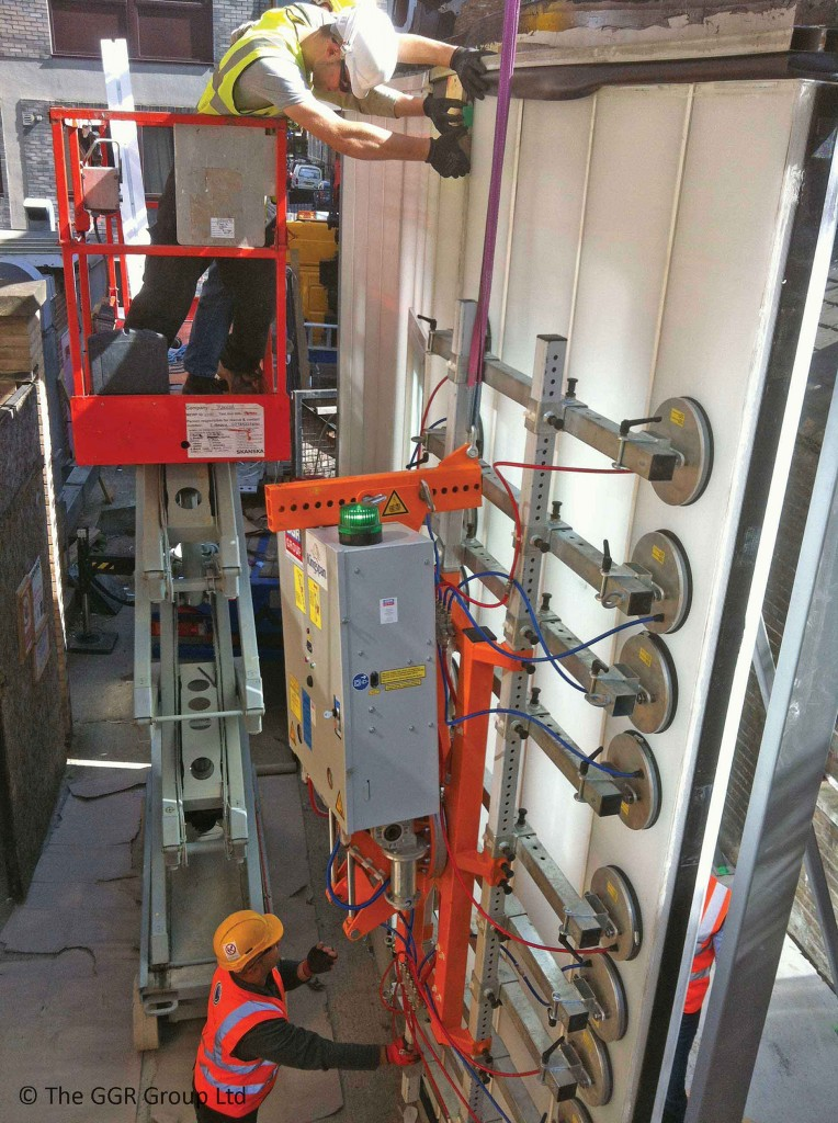 Ultra-Clad 1000 installing ridged glass panels