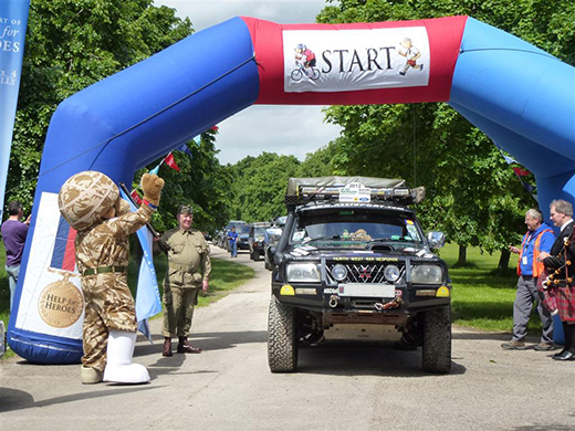 Help for Heroes 4x4 European Rally 2013