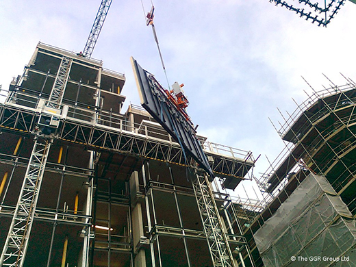 Lifting oversized cladding panels with the Ultra-Clad 1000