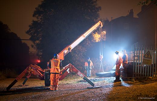 GGR Rail mini spider crane moving Holdfast panels