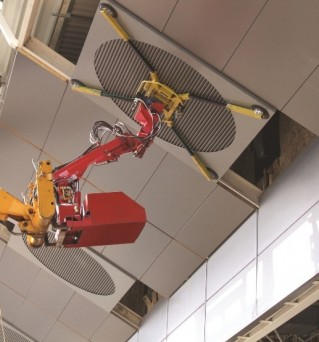 Homer Robot for installing air-conditioning panels