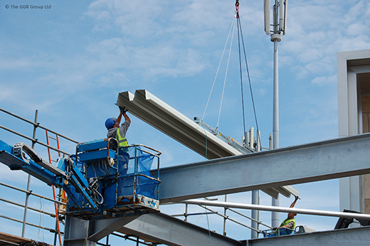 KTB-DT5 installing aluminium roof panels