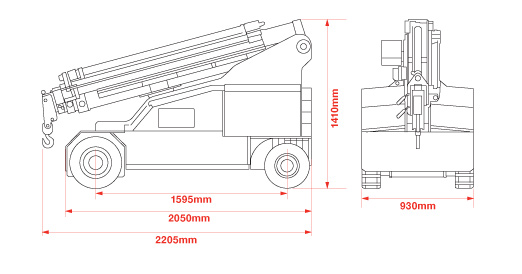 Dimensions of the Galizia Multis 215
