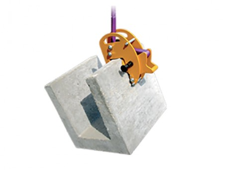 Upright Stone Clamp includes rubber lined clamping faces to avoid damage to polished surfaces and provide a better grip