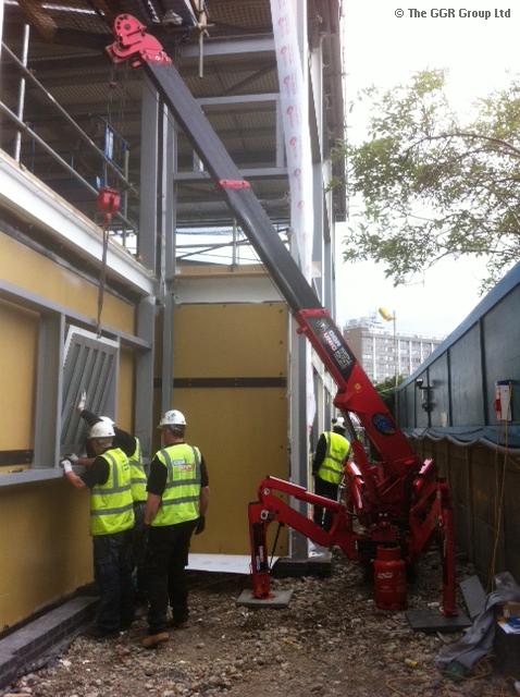 UNIC URW-095 fitting blast proof windows to custodial centre