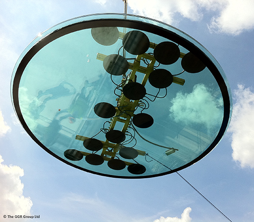 Round skylight and Hydraulica 1200