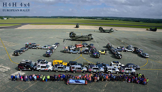 Help for Heroes 4x4 rally at RAF Odiham