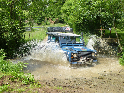 Offroad driving on the Help for Heroes 4x4 European Rally