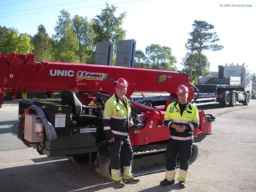 Statnett receive their UNIC mini crane from Knutsen Maskin A.S