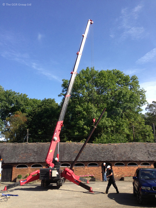 Arbury Hall power line pole replacement