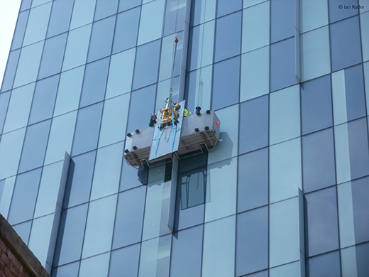 MRTA6 replacing glass at Hilton hotel