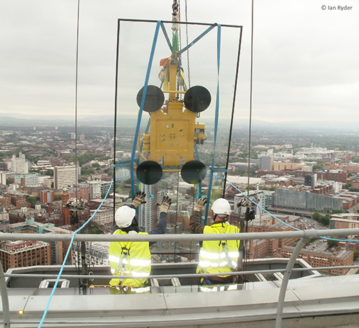 Reglazing at Beetham Tower, Manchester
