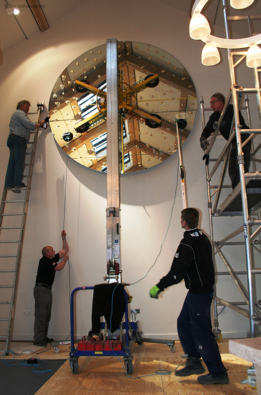 Glassmax hoist lifting mirror