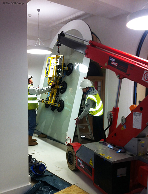 G20 compact crane at Goldsmiths college