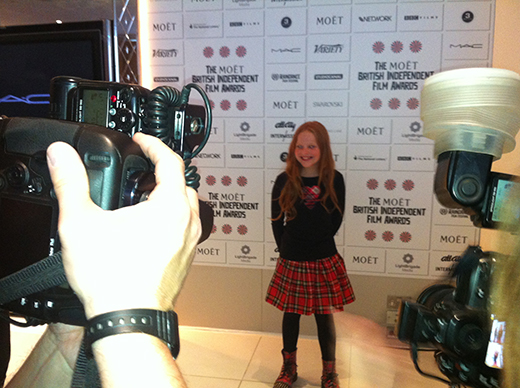 Harley at the nomination ceremony
