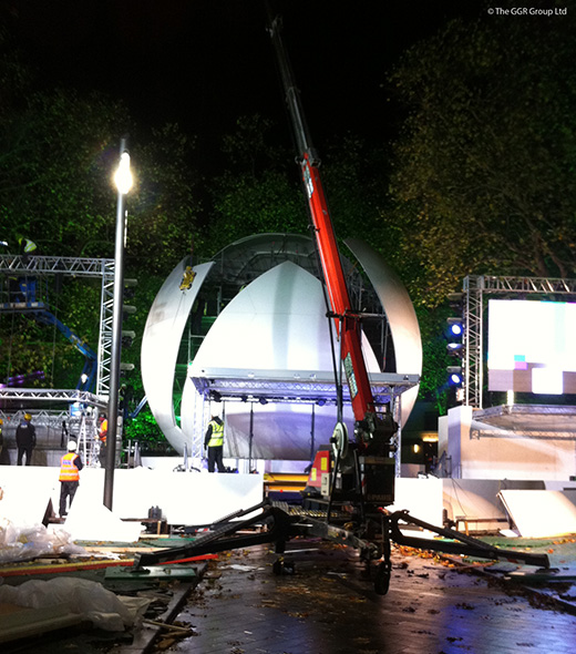 GGR's Starworker building dome for games console launch