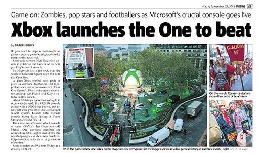 Starworker in Metro newspaper