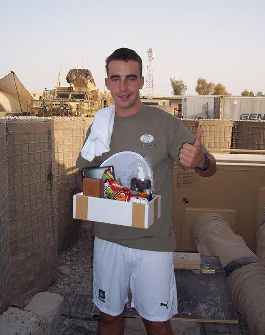 Christmas parcels for troops on tour