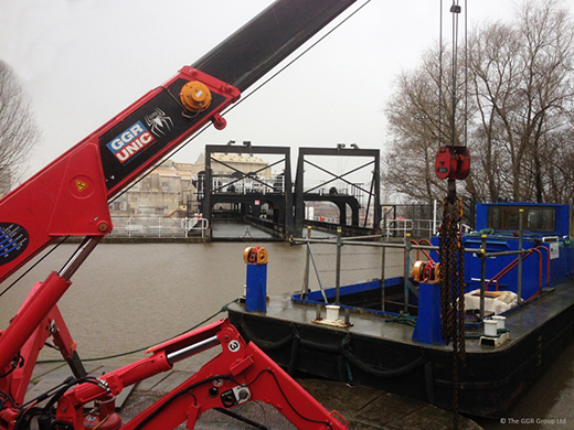 GGR help with Anderton Boat Lift maintenance work