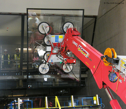 GL-UMC600 glass lifting head at SSE Hydro Arena