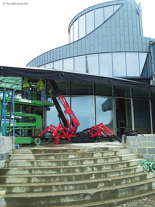 UNIC mini crane at Sherlock house