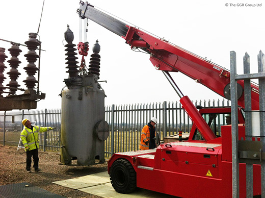 F200E pick and carry crane at substation