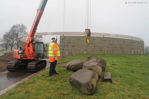 MCC804 crawler crane at Bannockburn memorial