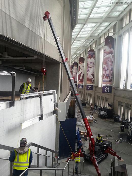 UNIC mini crane at Yankee stadium