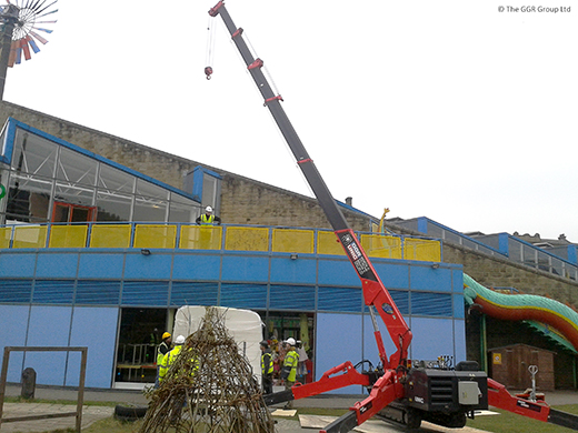 Mini crane at Eureka! children's museum