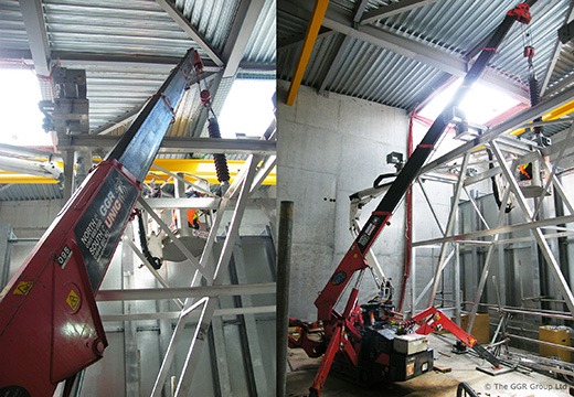 UNIC mini crane at Glasgow substation