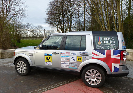 One of the Help for Heroes 4x4 vehicles