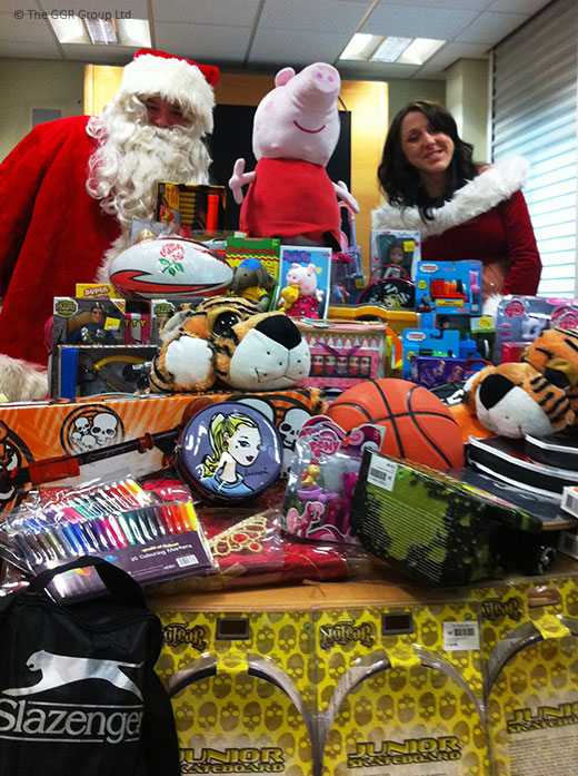 Wood Street Mission Christmas toy collection