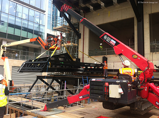 UNIC URW-706 crane installs ventilation units