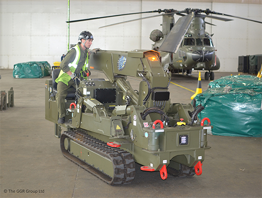Mini crane training at RAF Odiham